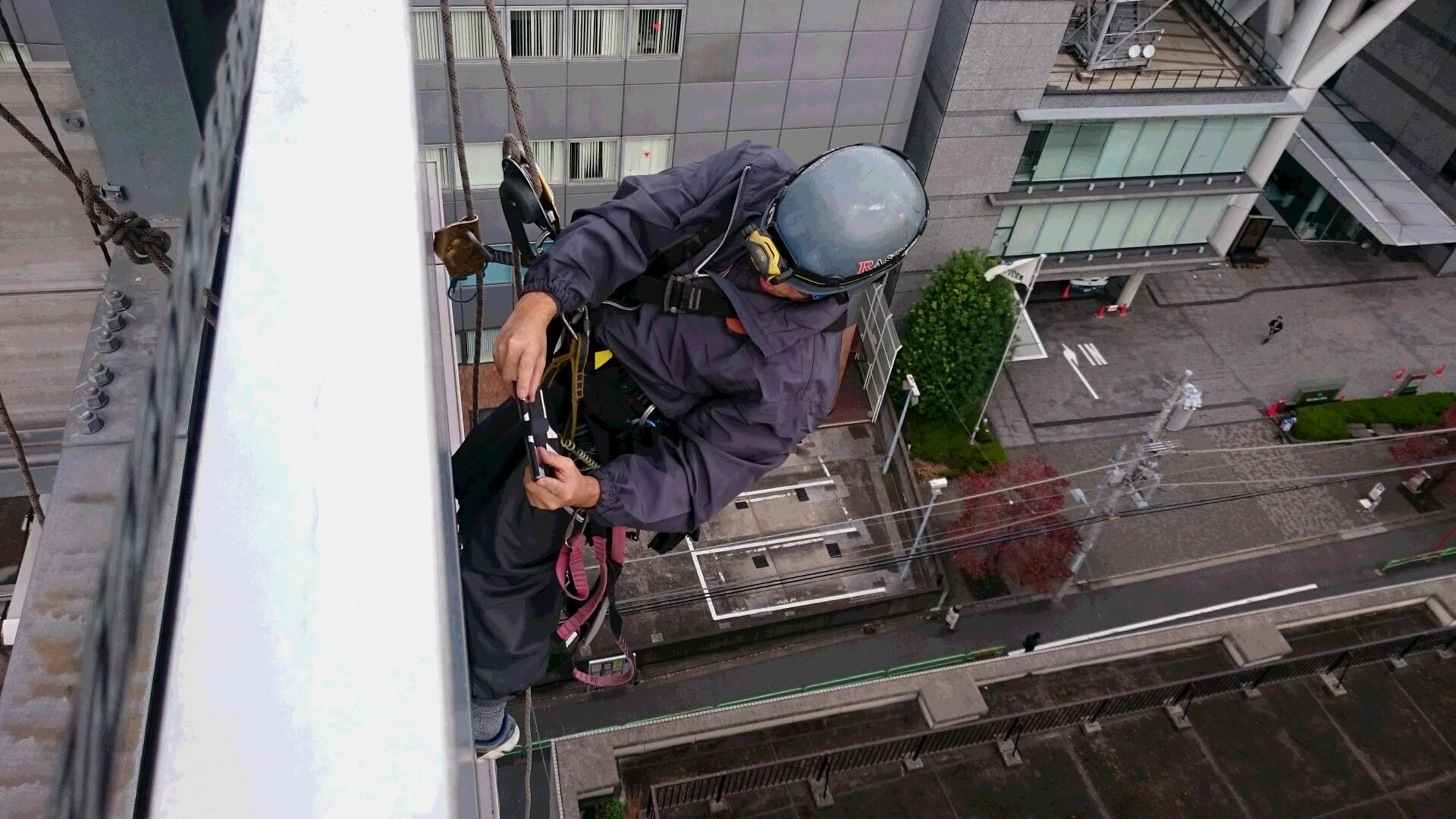 屋上塔屋(構造物)の安全点検作業 千代田区